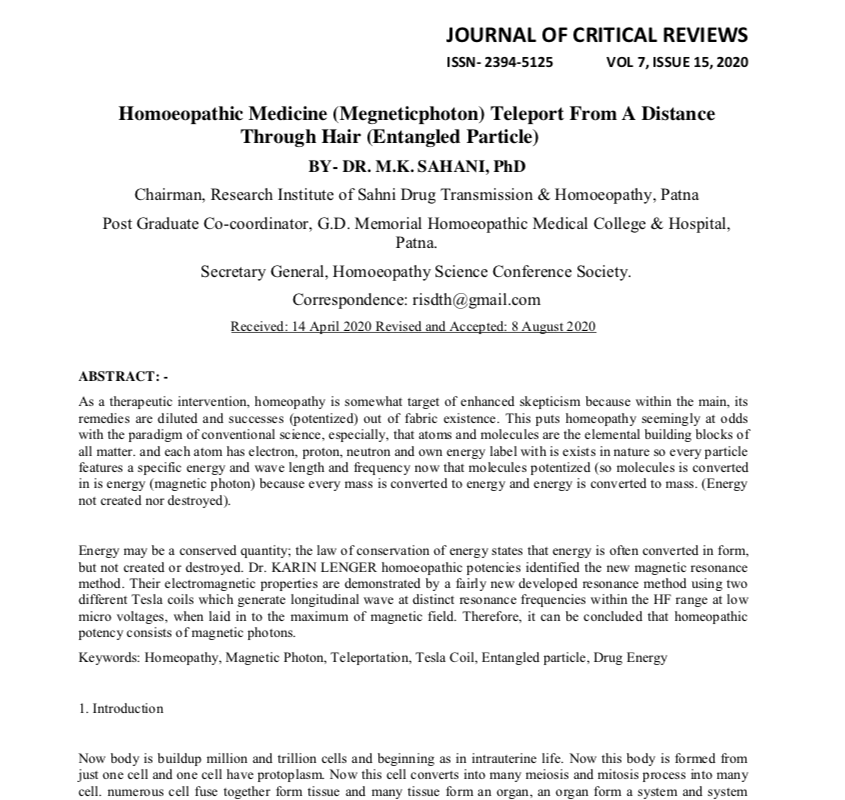 Article About Medicine Transmission at Scopus Journal- Journal of Critical Review (JCR)